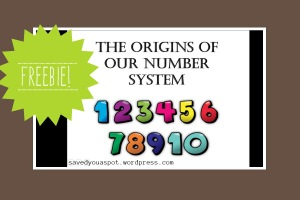 Freebie! The origins of our number system