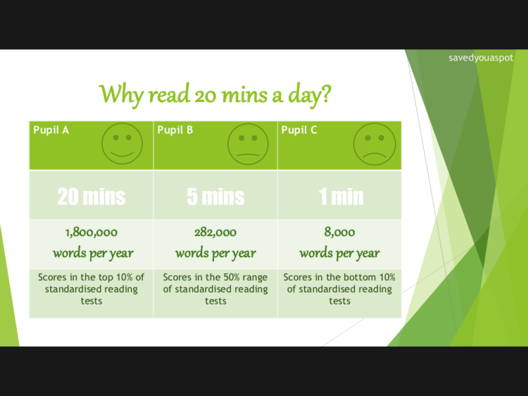 Why read 20 mins a day?