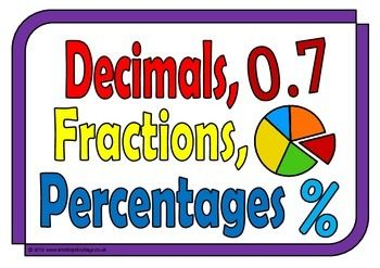 Decimals Fractions Percentages With Football Maths