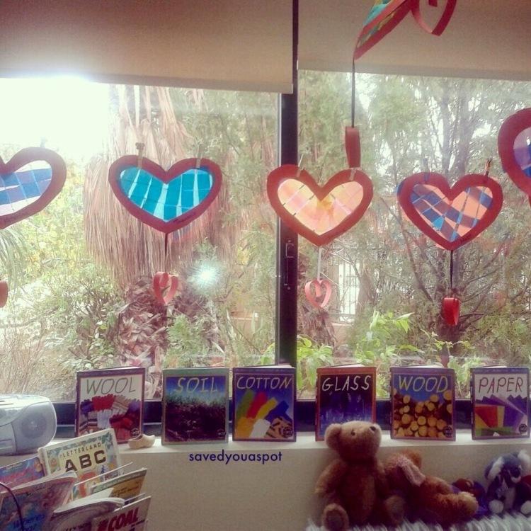 Hearts display