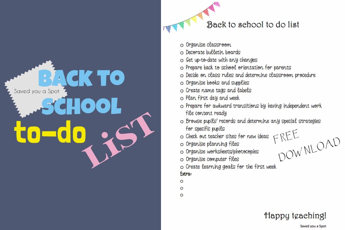 teacher to do list