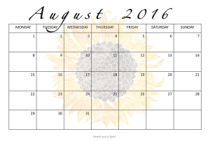 Free downloadable Academic Calendar 2016-2017