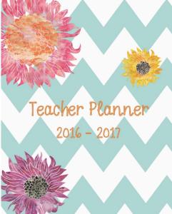 Pastel Chevron Chic Teacher Planner 2016-17
