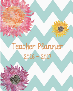 Pastel Chevron Chic Teacher Planner 2016-17