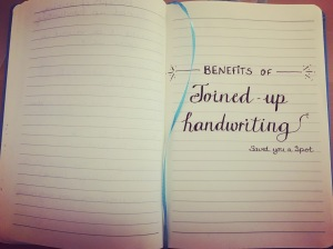 Benefits of Joined-up Handwriting