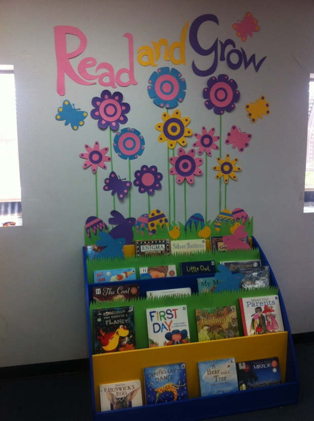 12 Amazing Library Display Ideas For Every Month on March Bulletin Board Spring Time