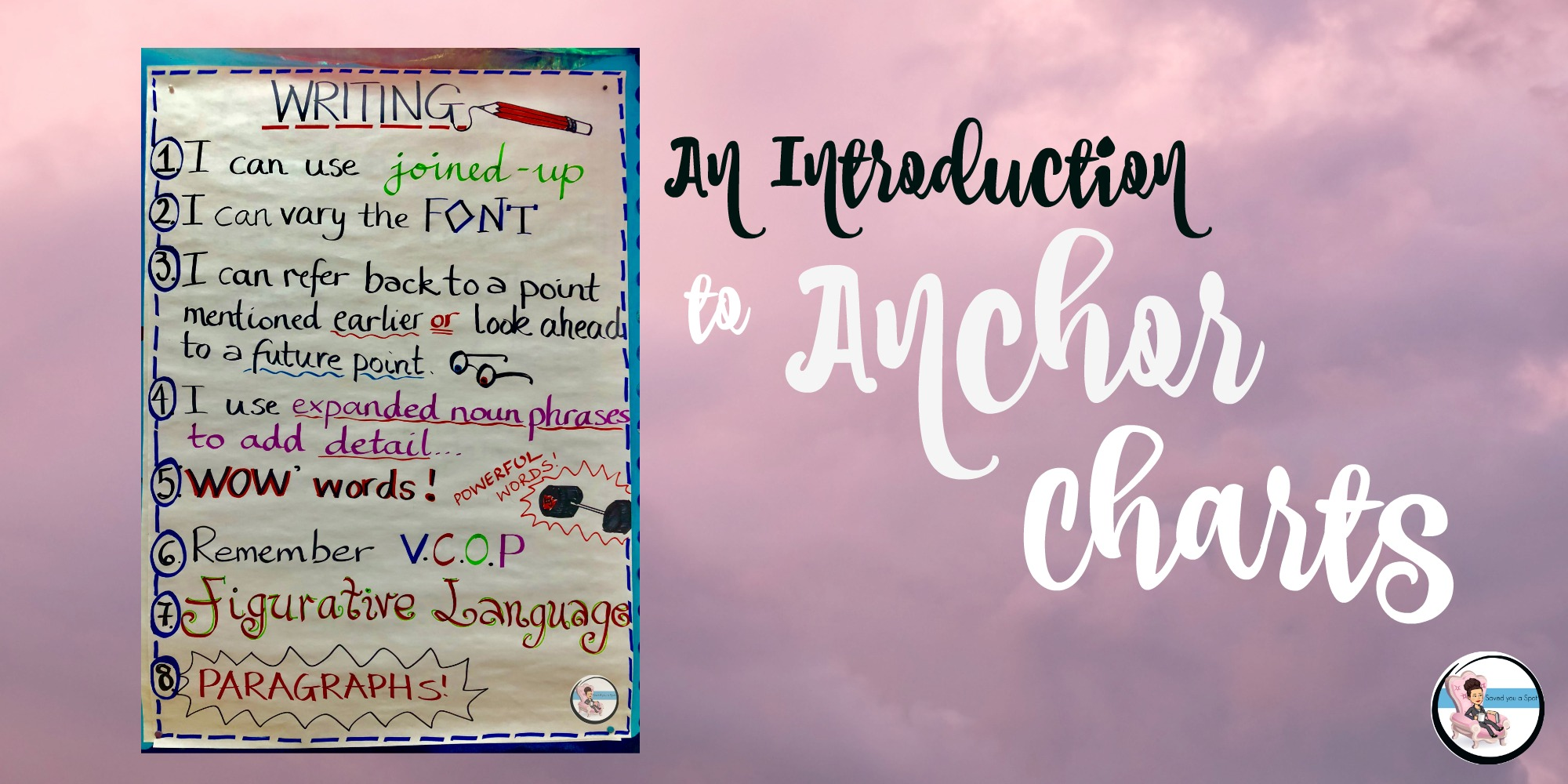 introduction to anchor charts saved you a spot