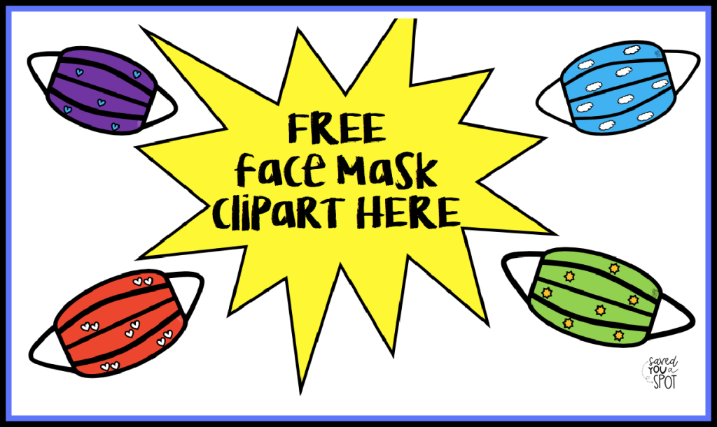 Click on the image to download free face mask clipart